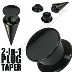 Piercing do ucha - Plug + taper