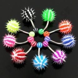 Piercing do pupka - silikónový UV ježko