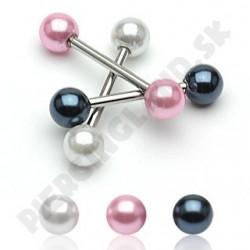 Piercing do jazyka - Imitácia perly