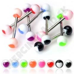 Piercing do jazyka - Akrylové UV guličky
