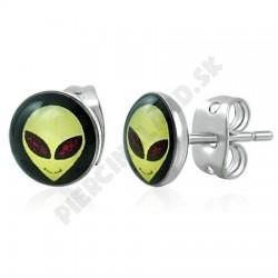 Náušnice z chirurgickej ocele - Alien