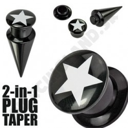 Piercing do ucha - Plug + taper