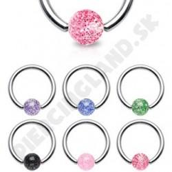 Piercing - Krúžok s glitrovanými guličkami