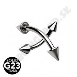 Piercing do obočia - Titán G23