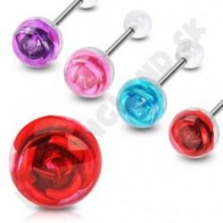 Piercing do jazyka - Ruža